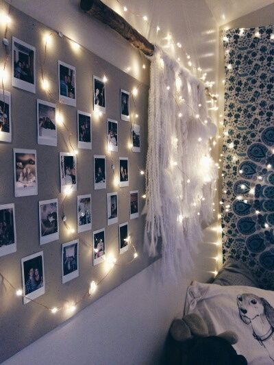 A Tapestry, Pictures, And Twinkle Lights