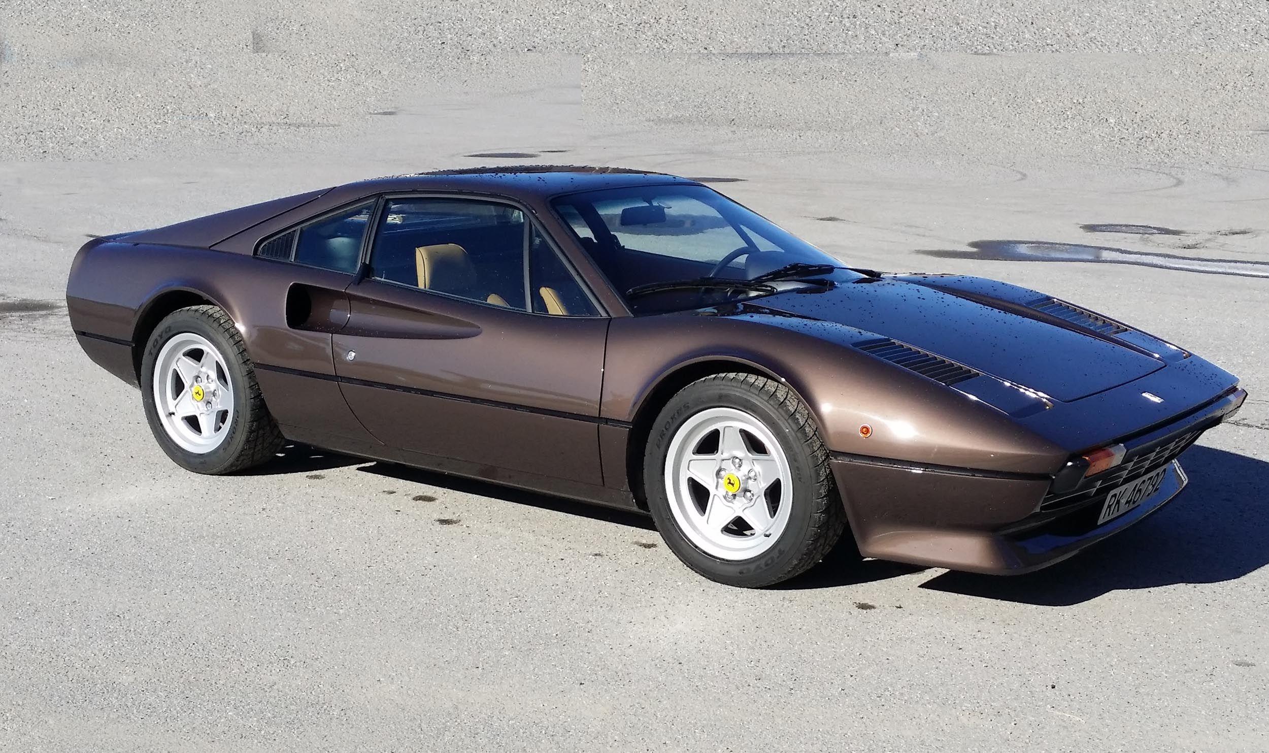 Marrone   1977 Ferrari 307 GTB   Route - 50 Shades of Ferrari