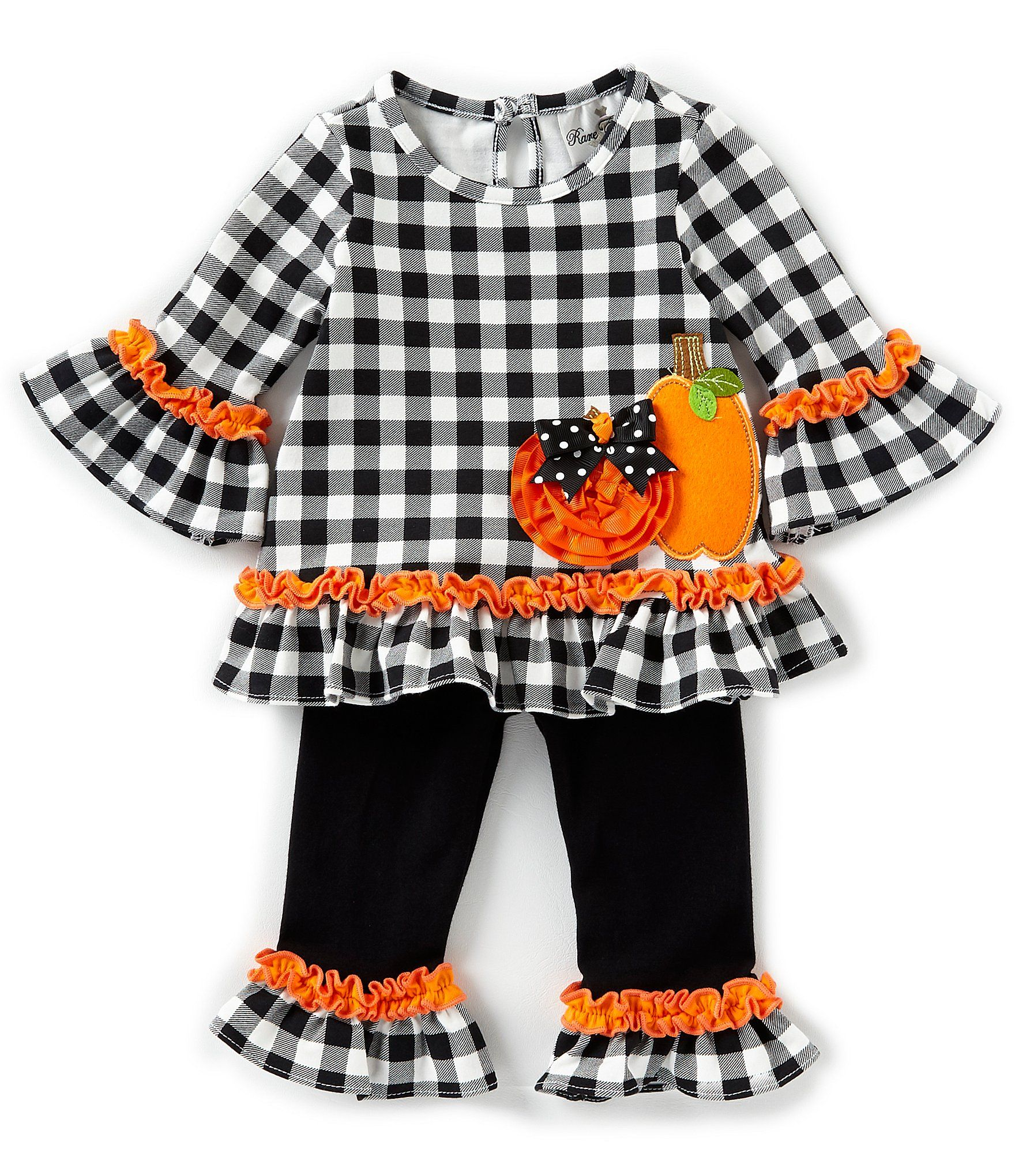 a2a8b337549a Shop for Rare Editions Baby Girls 3-24 Months Gingham Pumpkin Top & Legging  Set at Dillards.com. Visit Dillards.com to find clothing, accessories,  shoes, ...