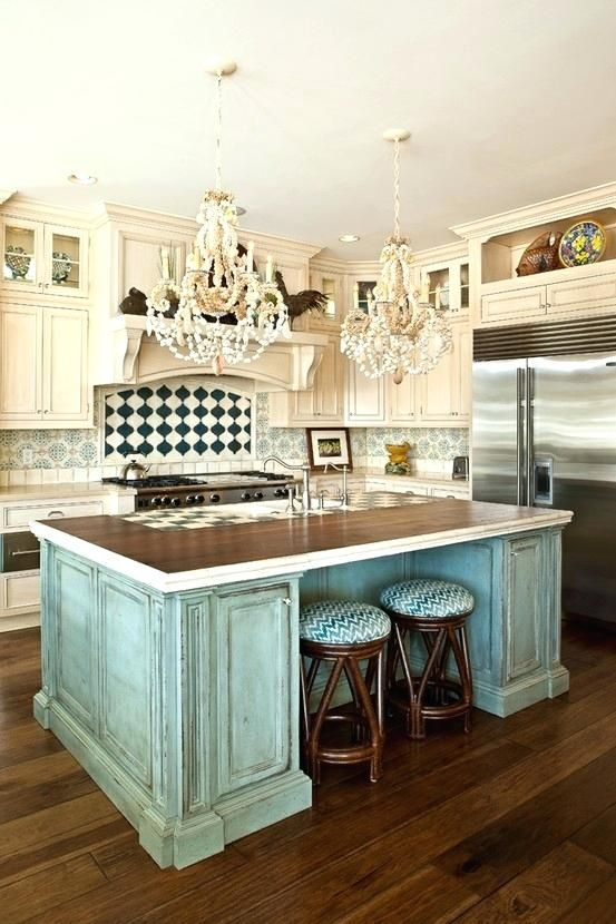 Rustic Coastal Decor Teal Kitchen Stools Home Beach Images