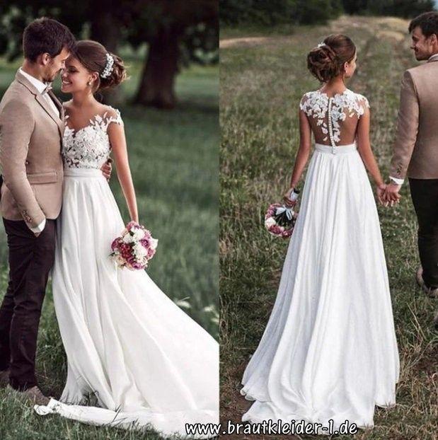 Brautkleid 2019 mit Cap-Ärmeln