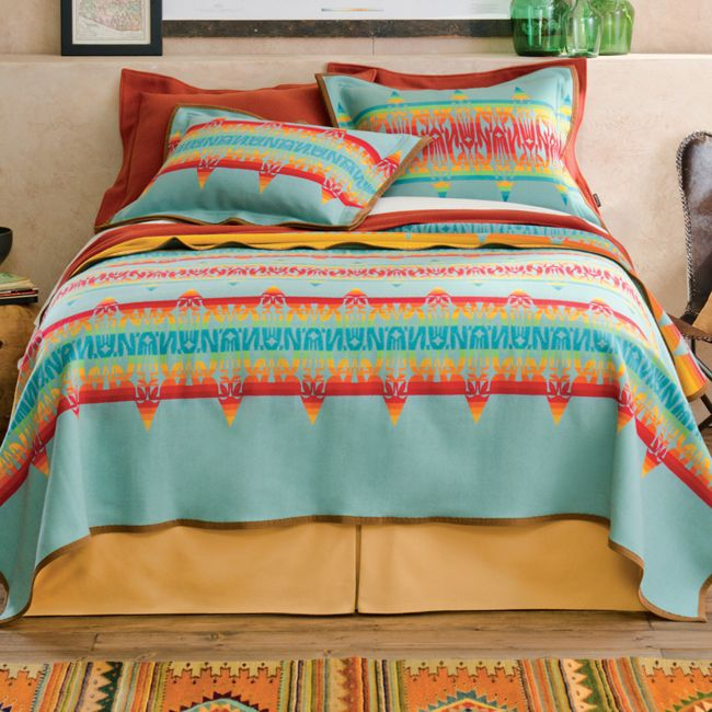 Coyoacan Turquoise Bed Set from Pendleton | Stylish Western Home Decorating