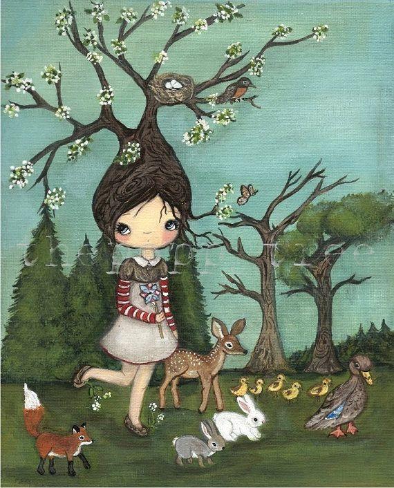 Tree Print---Nature Walk, via Etsy.