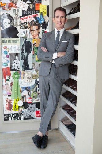 Mood Board inside his SHOE closet door--- Makes mine look pathetic...