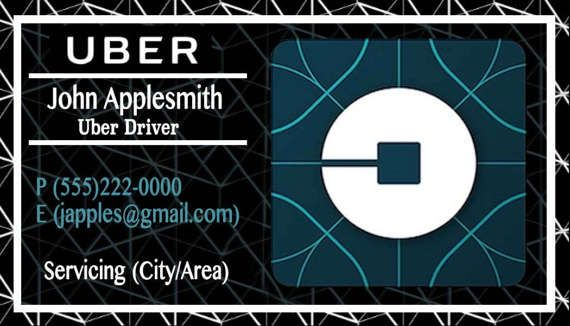photograph relating to Printable Uber Logo named Printable Uber Workplace Card Dim Uber recommendations Uber
