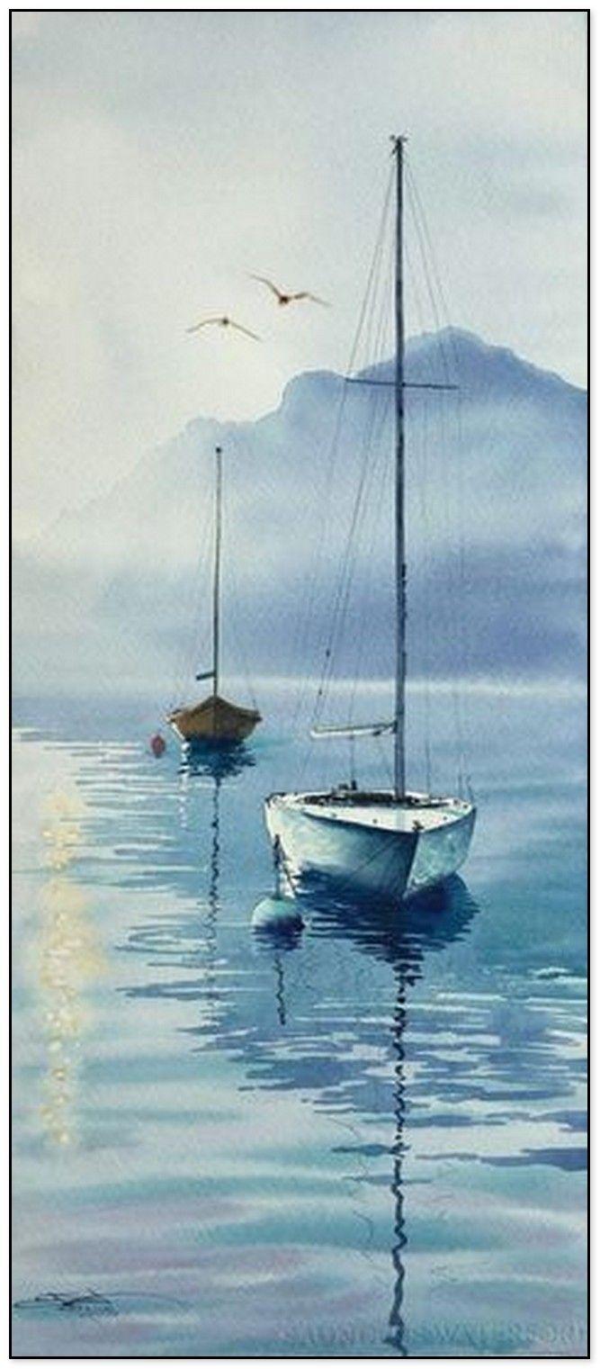 44 Easy Watercolor Painting Ideas #easywatercolorpaintings