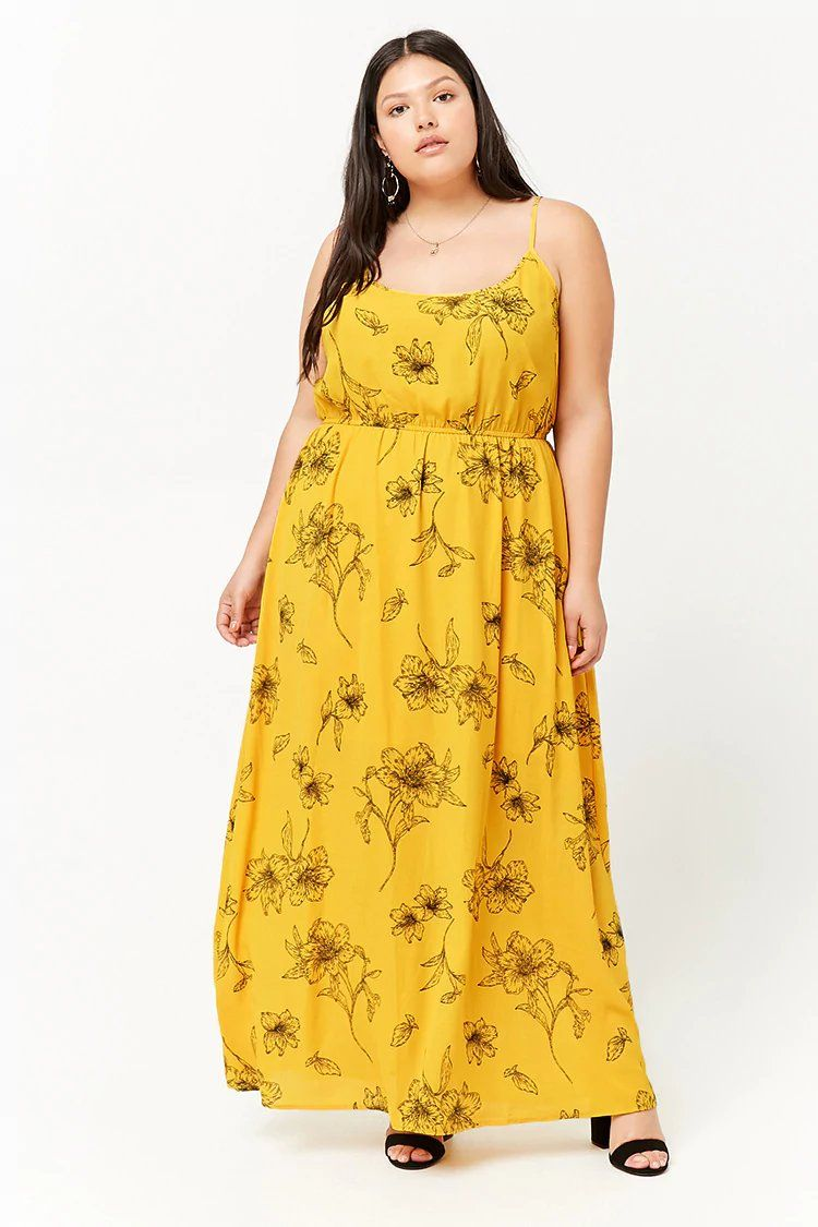 266f5d53d73b Product Name:Plus Size Floral Cami Maxi Dress, Category:plus_size-main,  Price:19.9