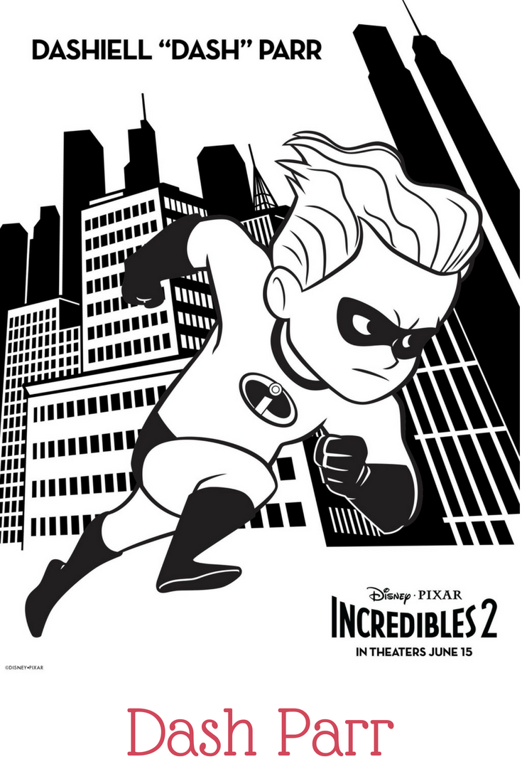 Dash parr coloring sheet incredibles coloring pages in