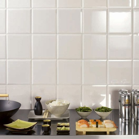 carrelage mural m tro artens en fa ence blanc brillant 20 x 20 cm salle de bain rue de. Black Bedroom Furniture Sets. Home Design Ideas