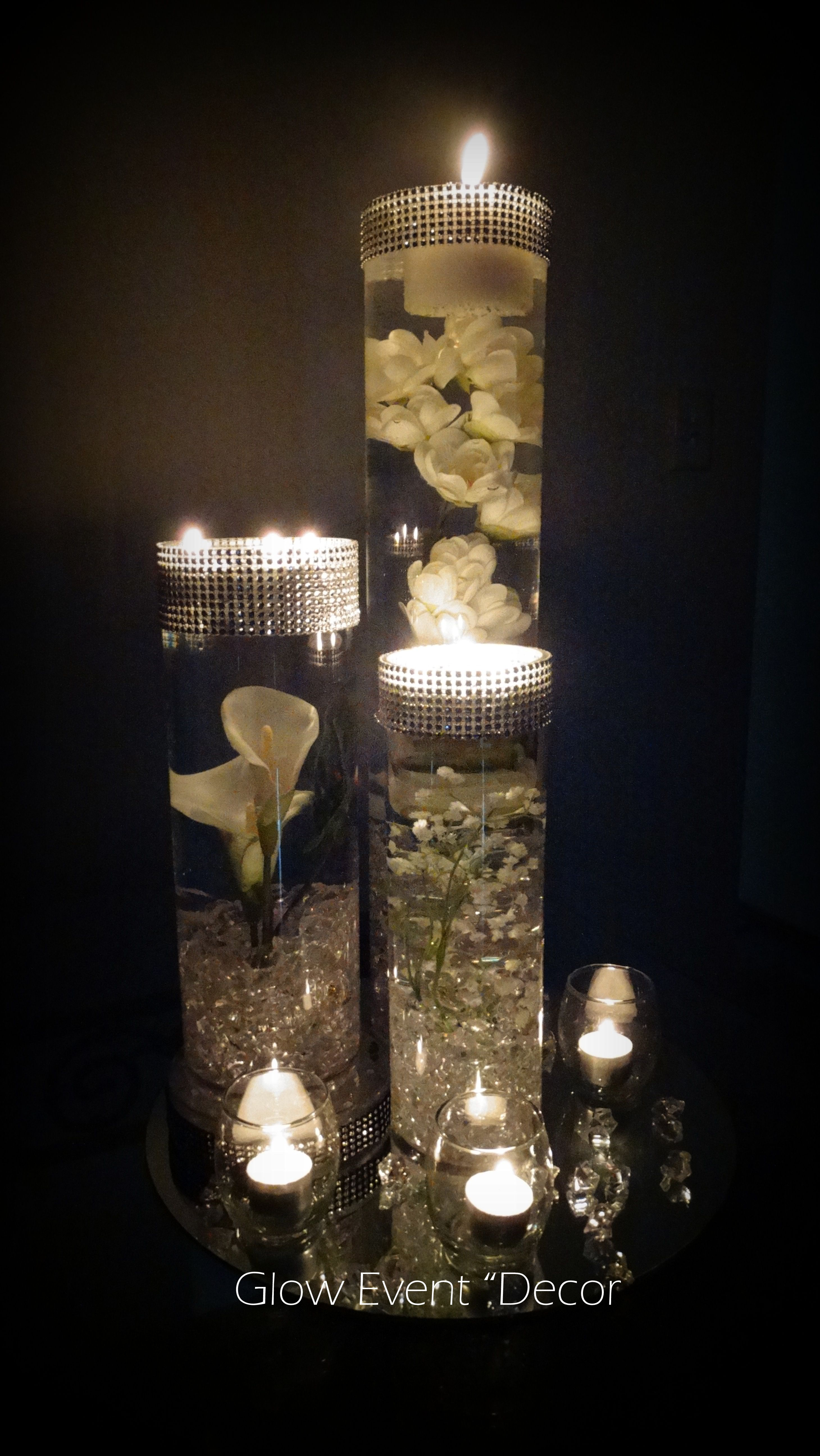 Cylinder vase trio submerged lillies gyp sophlia bablies breath cylinder vase trio submerged lillies gyp sophlia bablies breath crystal garland for bridal junglespirit Image collections