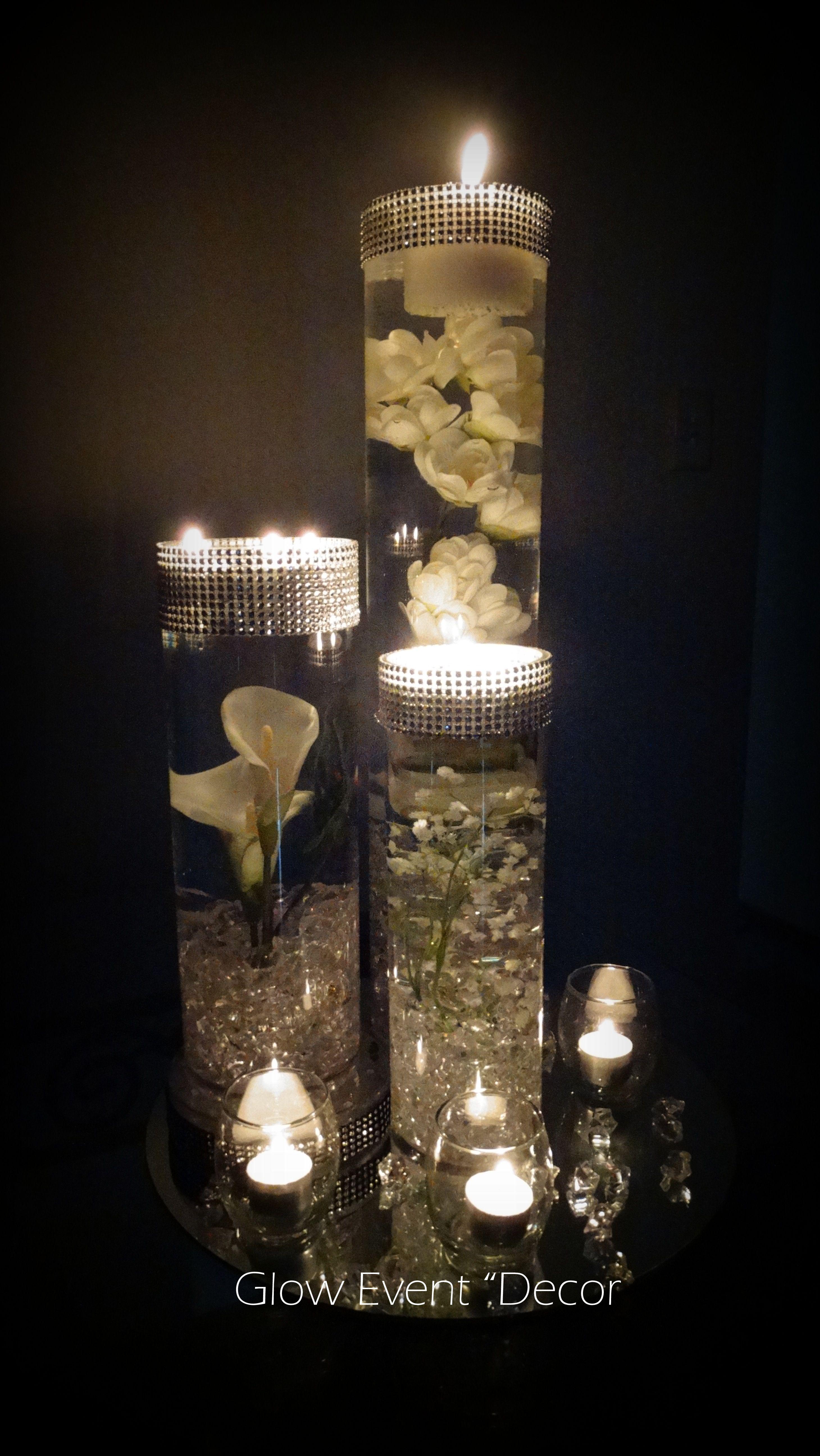 Cylinder vase trio submerged lillies gyp sophlia bablies breath cylinder vase trio submerged lillies gyp sophlia bablies breath crystal garland for bridal junglespirit Images