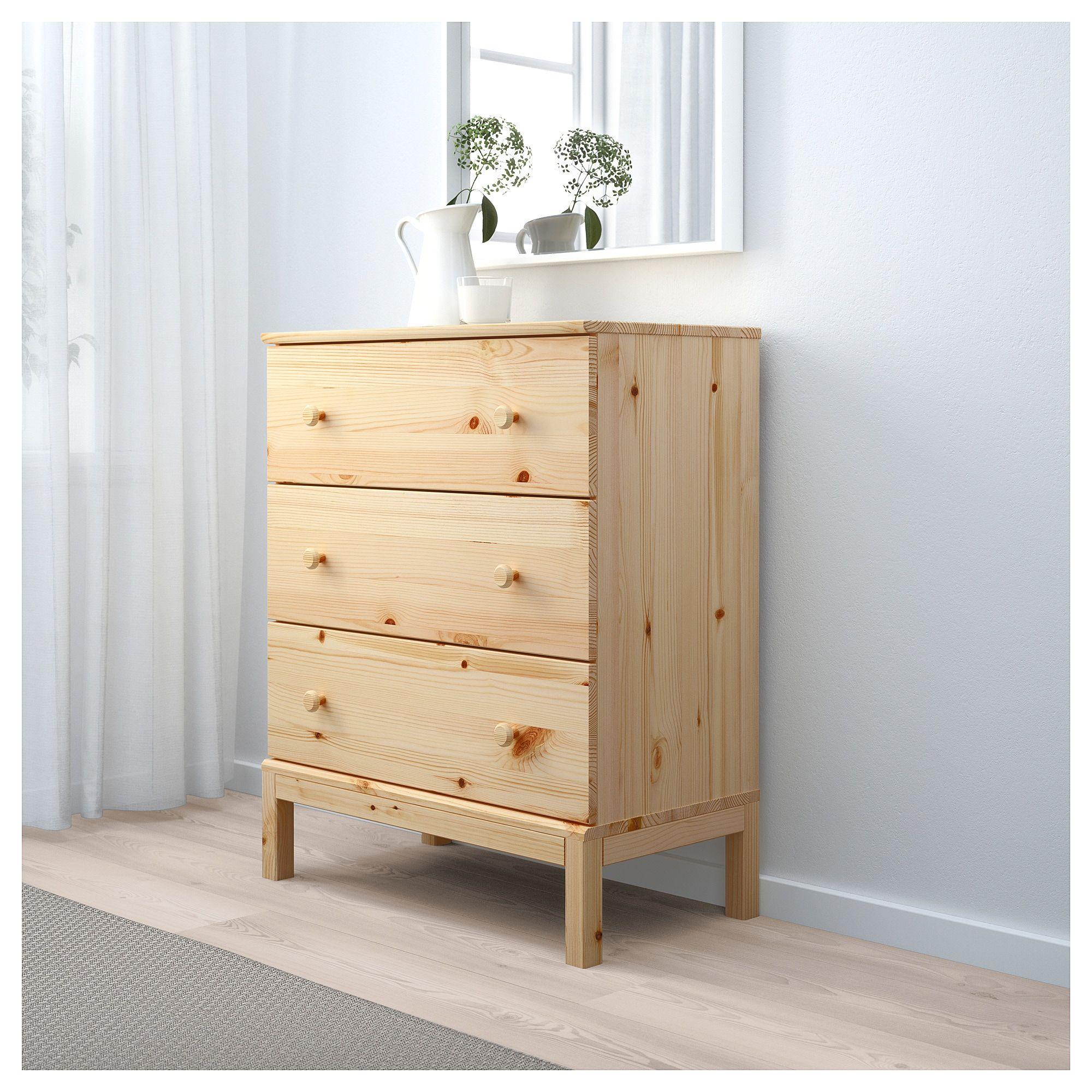 TARVA 3 drawer chest pine 29 78x36 14