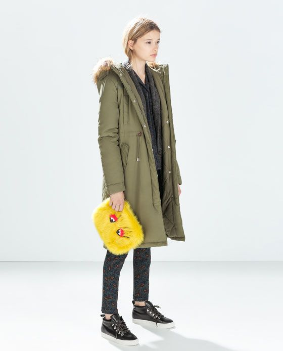 81d48dc38d WATER REPELLENT PARKA | Fall on me | Waterproof parka, Zara parka, Parka