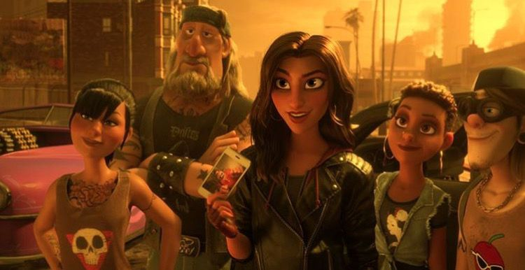 Gal Gadot Shank And Her Crew In Ralph Breaks The Internet November 21 2018 Gal Gadot Galgadotismysuperhero Personagens De Anime Personagens