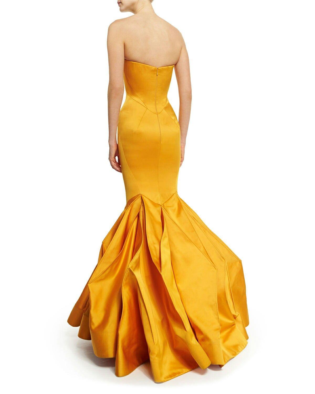 Zac Posen Back Yellow Dress Formal Wear Dresses Red Bridesmaid Dresses Strapless Dress Formal [ 1500 x 1200 Pixel ]