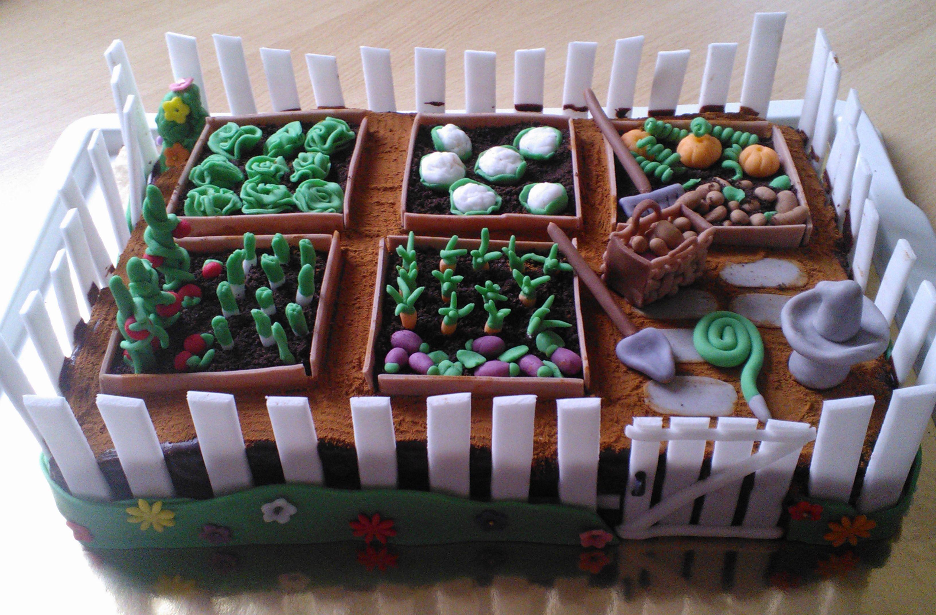 Zelenjavni vrt / Vegetable garden cake (With images ...