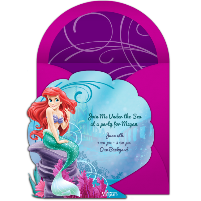 Free The Little Mermaid Invitations In 2019