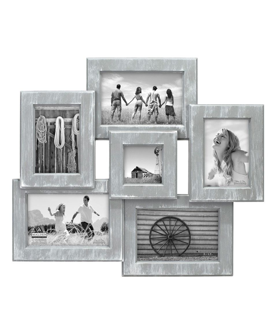 Take a look at this Gray Wash Collage Six-Photo Frame today! | Stuff ...