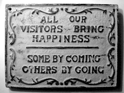 Visitors & Happiness