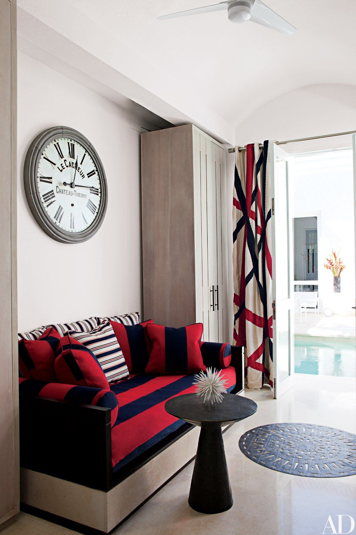 rooms where the clocks are pieces of art restoration hardware