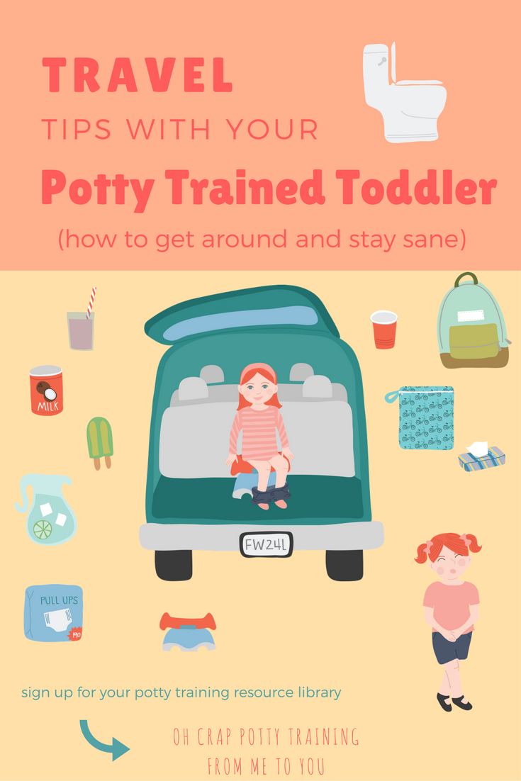 Travel Tips with Your Potty Training or Potty Trained Toddler How to Go Near or Far and Stay Sane | potty training tips | traveling with toddlers | Oh Crap Potty Training