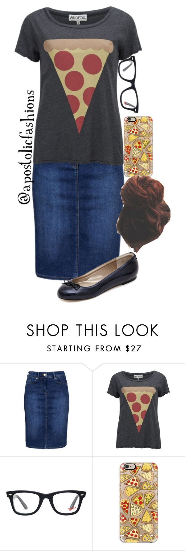 """""""Apostolic Fashions #889"""" by apostolicfashions on Polyvore featuring Wildfox, Ray-Ban and Casetify"""