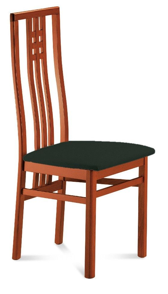 Domitalia Scala Dining Chair With Toulouse Black Seat And Cherry