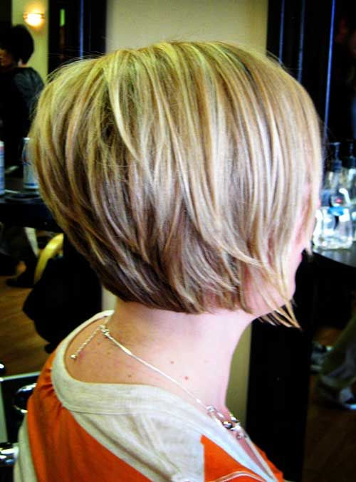 Stacked Short Layered Bob Hairstyles 90
