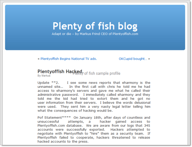 Best plenty of fish profiles