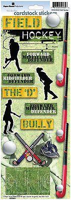 Paper House Field Hockey Cardstock Stickers Scrapbooking Defender Forward Bully Field Hockey Stickers Field Hockey Scrapbook Stickers