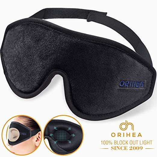 Amazon Com Sleep Mask For Women Men Orihea Upgraded 3d Contoured Eye Mask For Sleeping Ultra Soft Breathable Sleeping Eye Mask 100 B Sleep Mask Mask Men