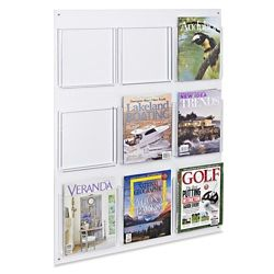 Acrylic Wall Mount Magazine Rack 9 Pocket H 2519 Magazine Rack Magazine Wall Wall Mount