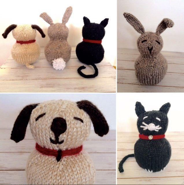 Petting Zoo Stuffed Animal Toy Knitting Pattern Easy Pattern
