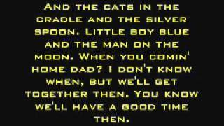 Cats In The Cradle Harry Chapin Lyrics Via Youtube Cats Cradle Lyrics Music Lyrics
