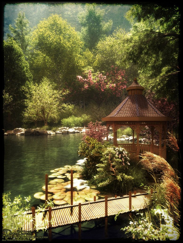 Peaceful Japanese Garden by 00AngelicDevil00 | fantasy & digital art ...