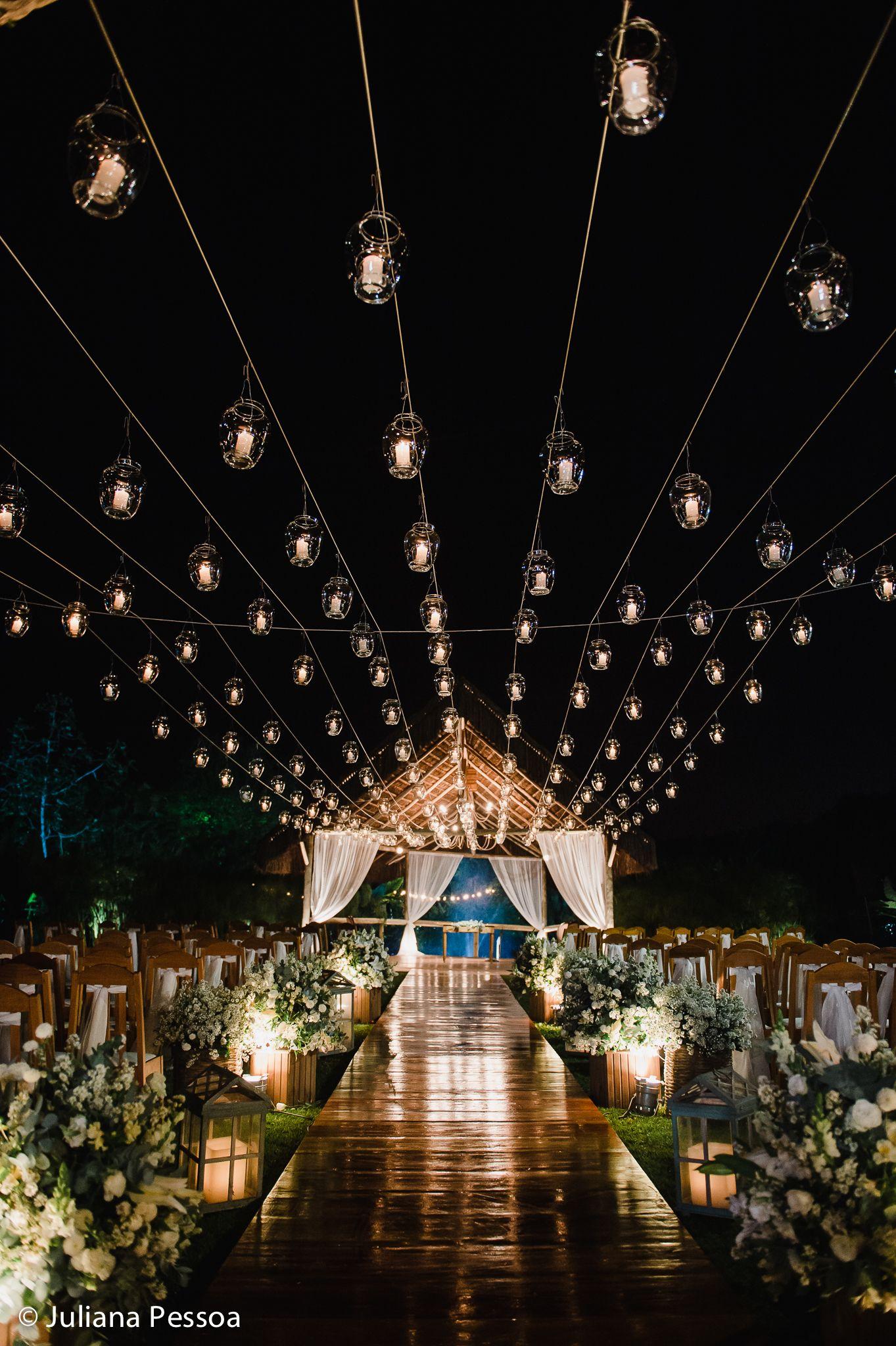 Decoracao Com Teto De Velas Para Cerimonia De Casamento Ao Ar