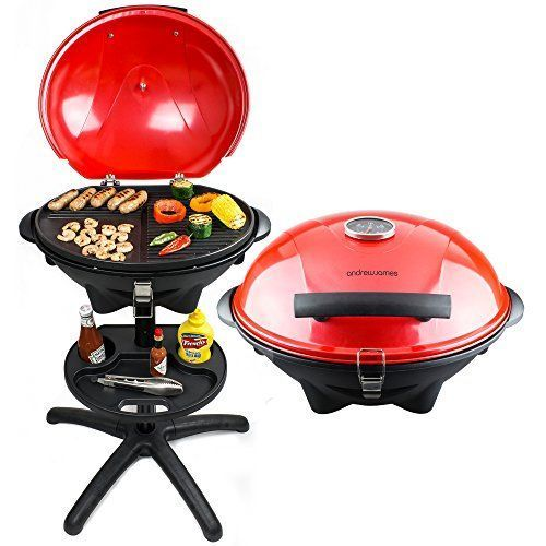8a20a44bcfc1 From 69.99 Andrew James Red Electric Bbq Grill With Built In Thermometer  Gauge Ideal For Outdoor And Indoor Use All Year Round