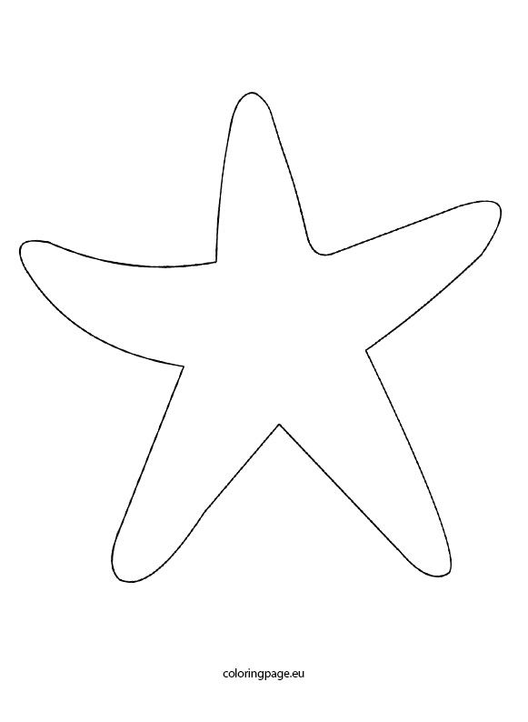 starfish coloring pages for tracing - photo#21