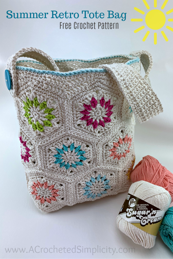 Photo of Summer Retro Tote Bag – Free Crochet Bag Pattern
