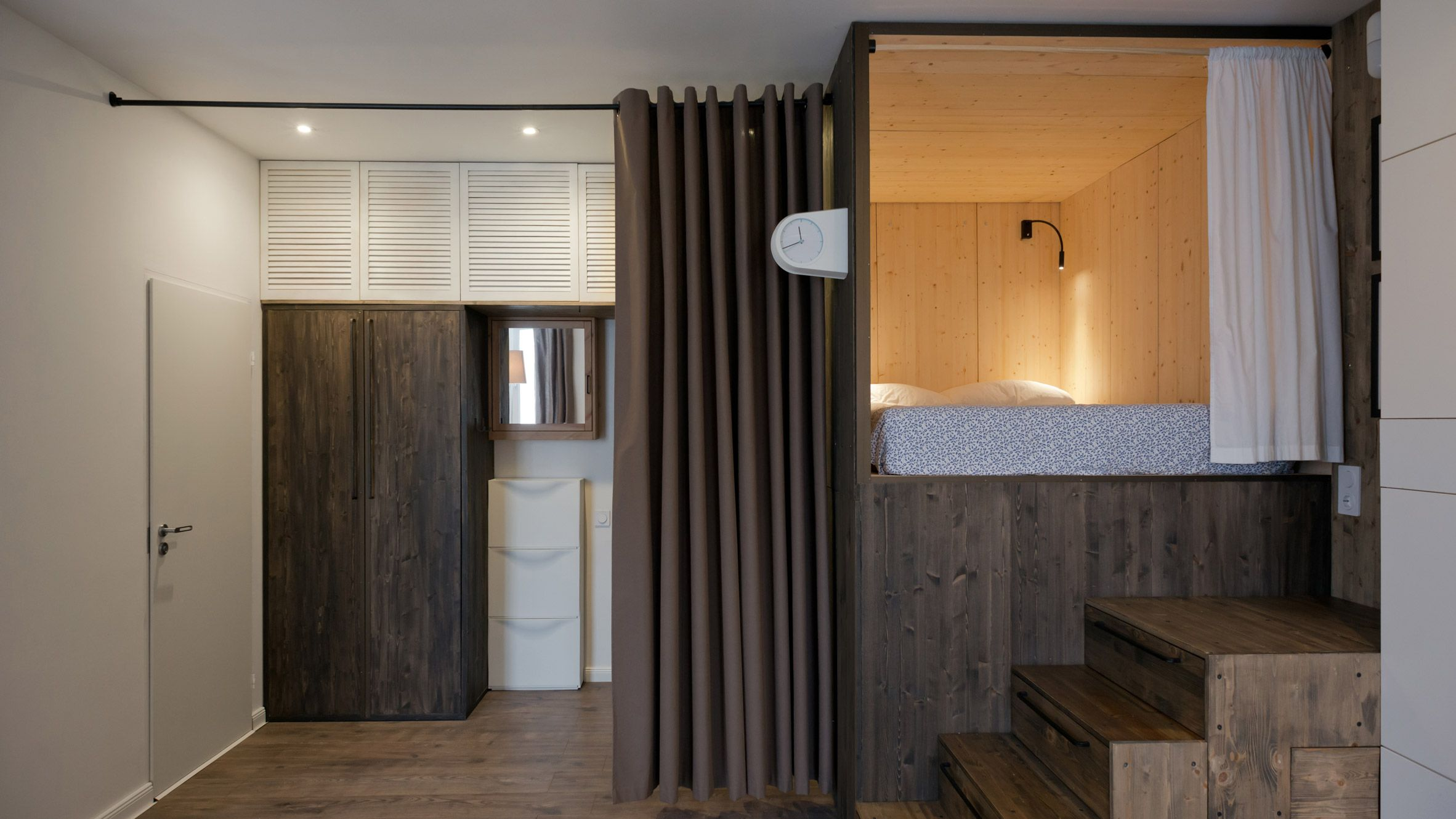 Studio Bazi\'s tiny self-designed home features a wooden \