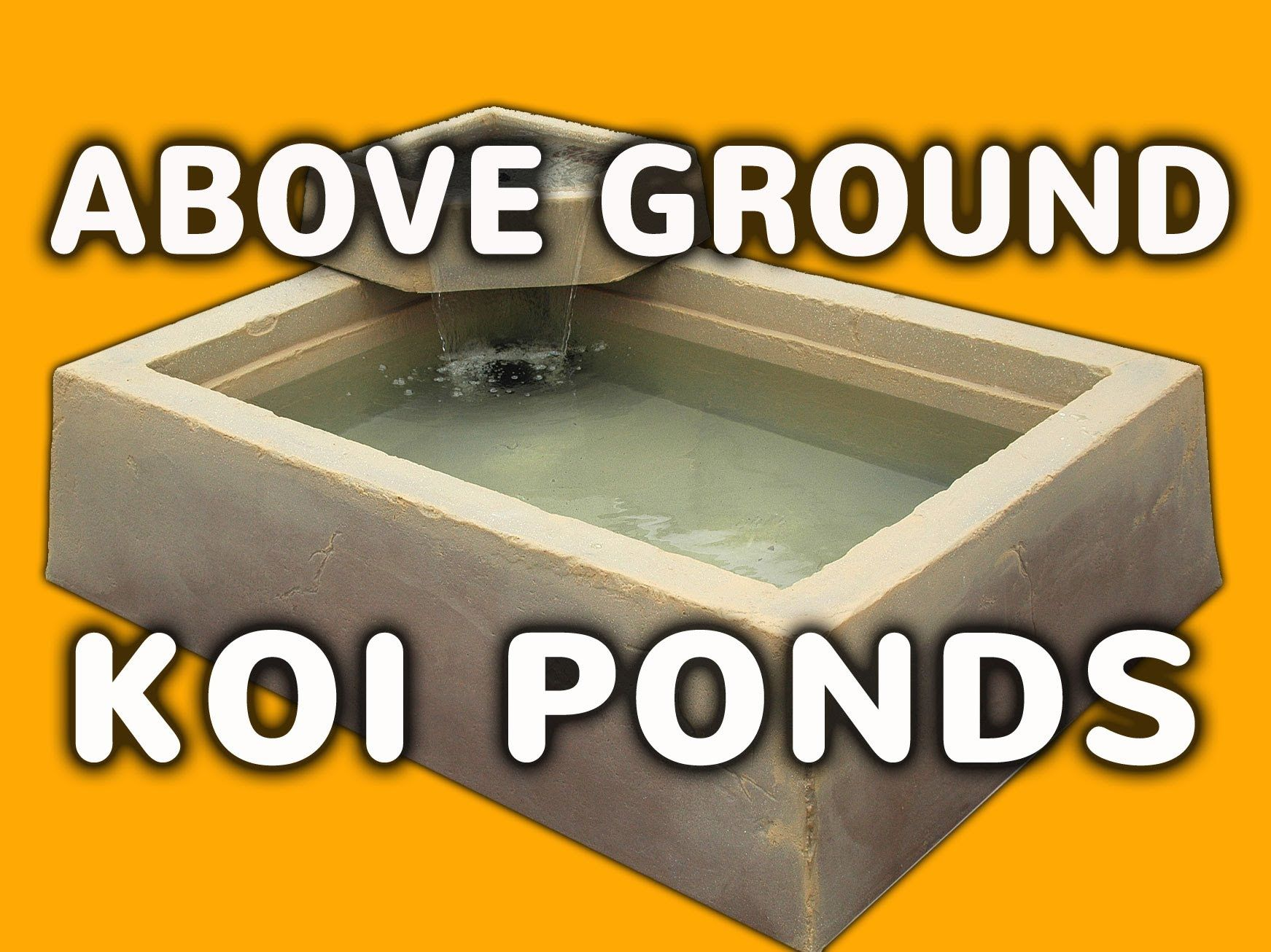 Quick and easy above ground koi ponds with faux stucco for Above ground koi fish pond