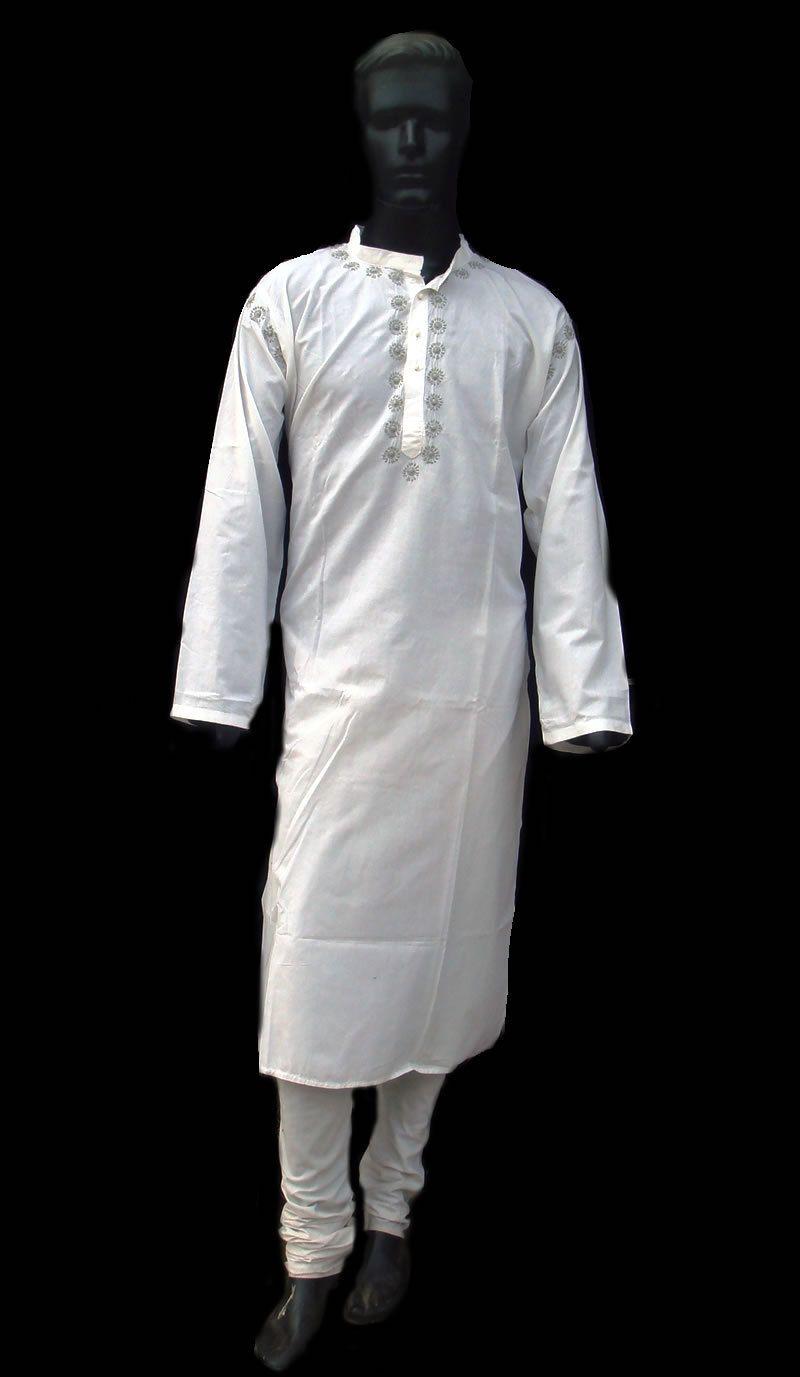 Long shirt dress white kurta