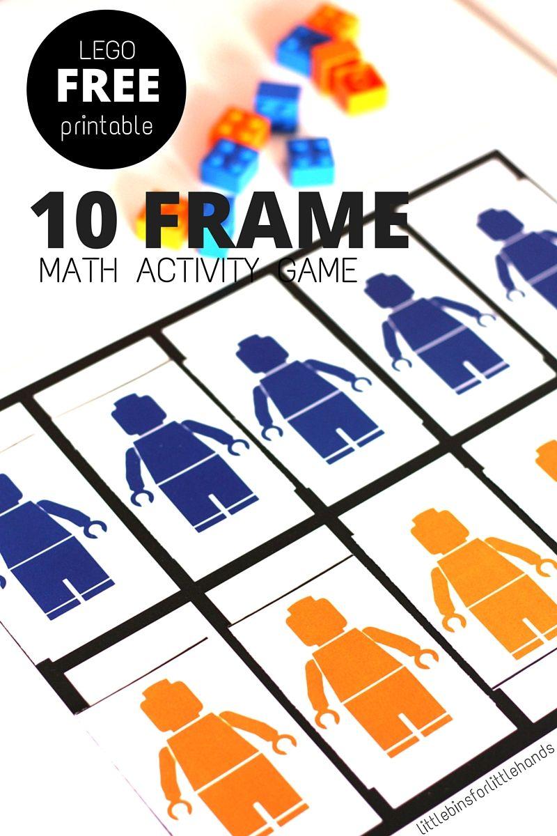 LEGO Math Ten Frame Grid Activity for Numeracy Skills | Math ...