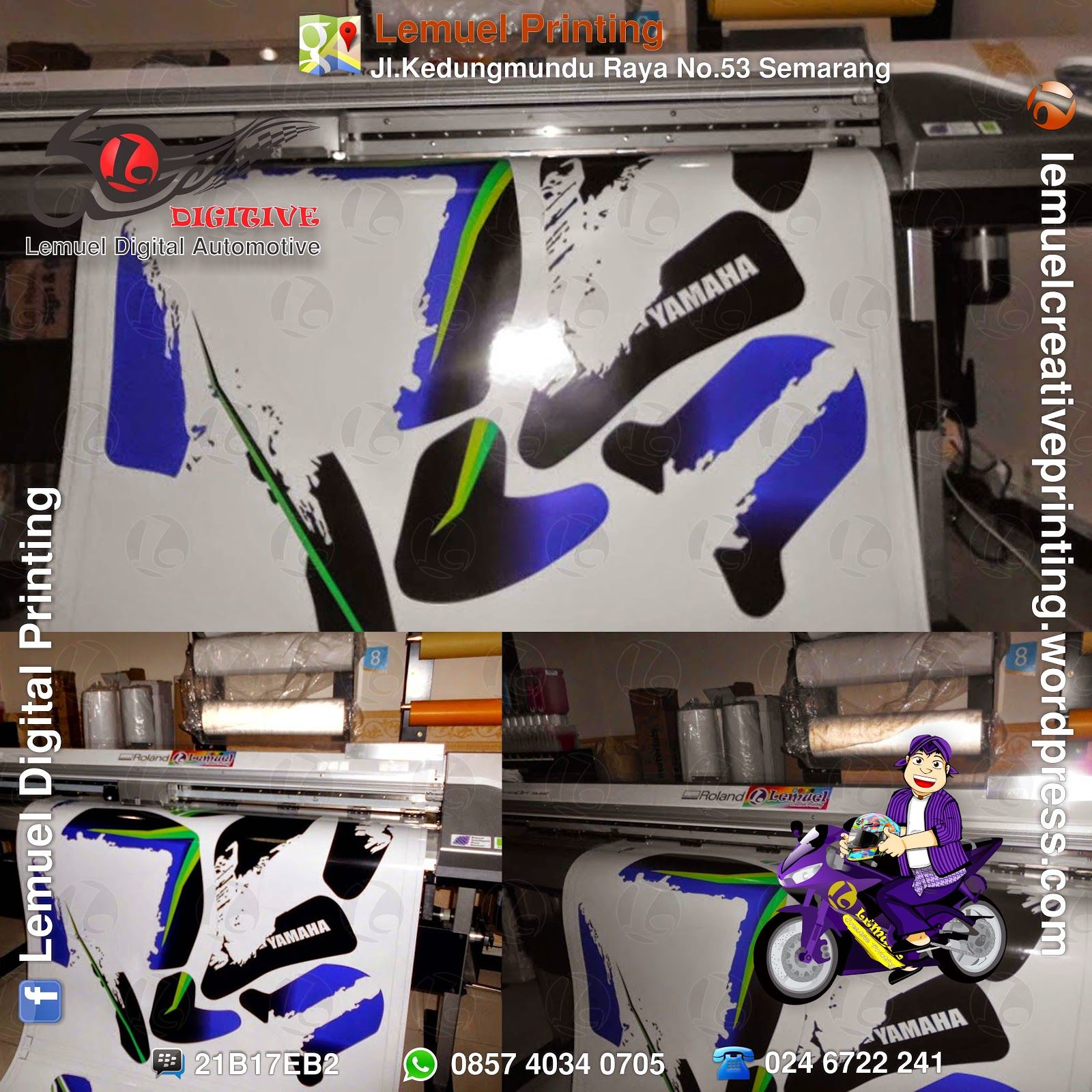 Lemuel Produksi Decal Vinyl Striping Motor Full Body Di Yamaha R25