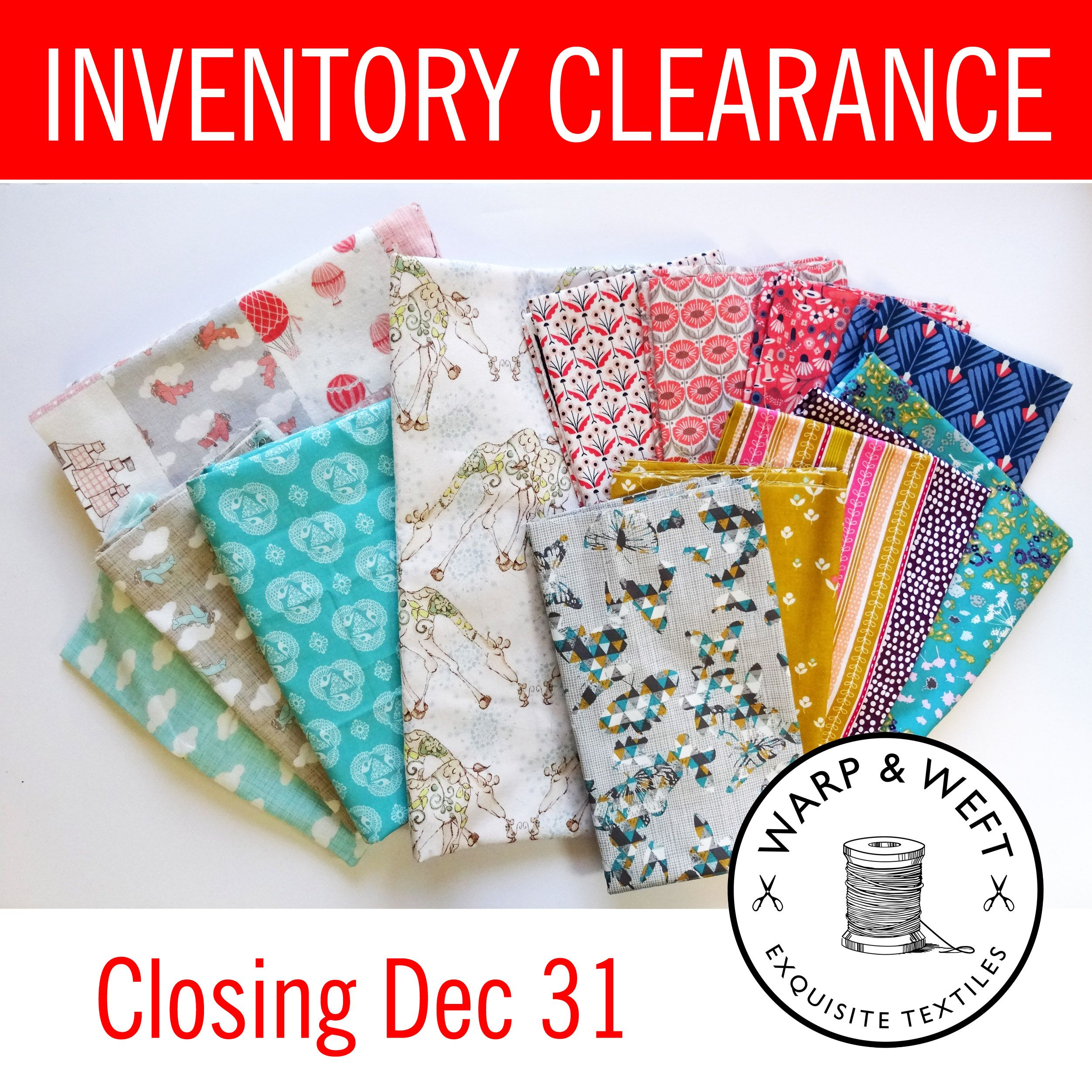 @warpandweftca is closing its doors! Click over for some great deals as they clear out their inventory. https://www.warpandweft.ca/