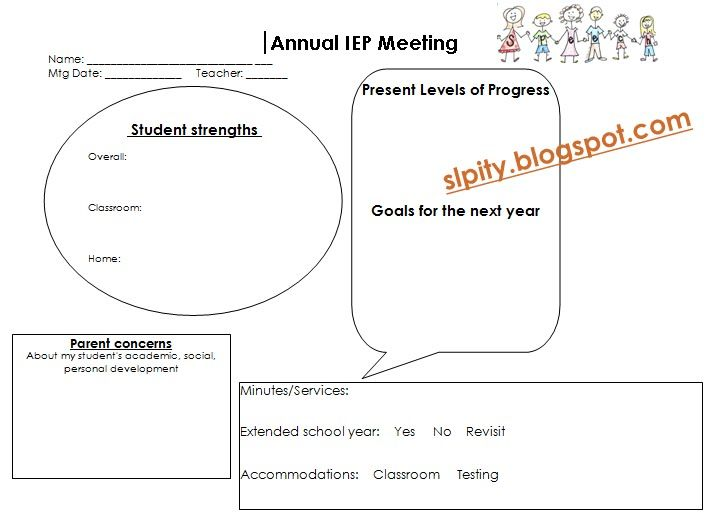 SLP-ity! IEP Meeting Forms abby and emma ideas Pinterest - agenda format for meetings