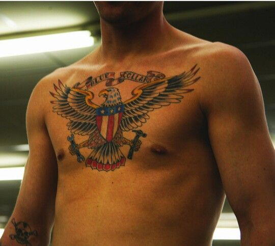 Patriotic Chest Tattoo Eagle Tattoo Tattoos Tribal Tattoo Designs
