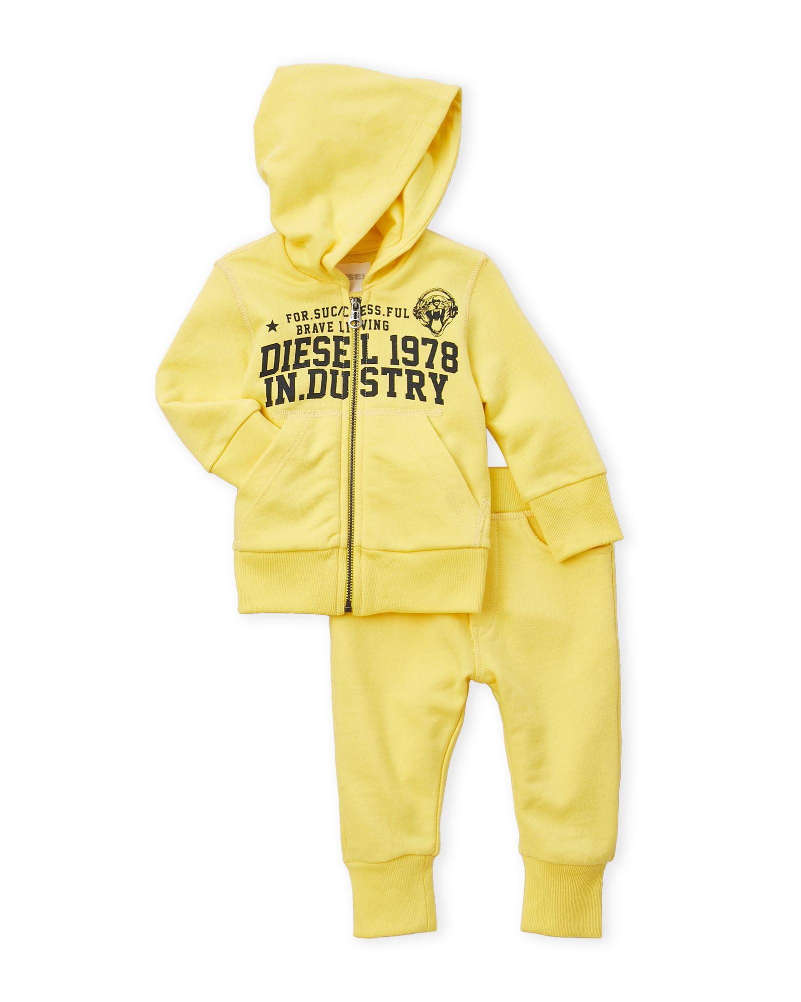 36aa586897d09 Diesel (Infant Boys) Two-Piece Terry Knit Zip-Up Hoodie & Pants Set ...