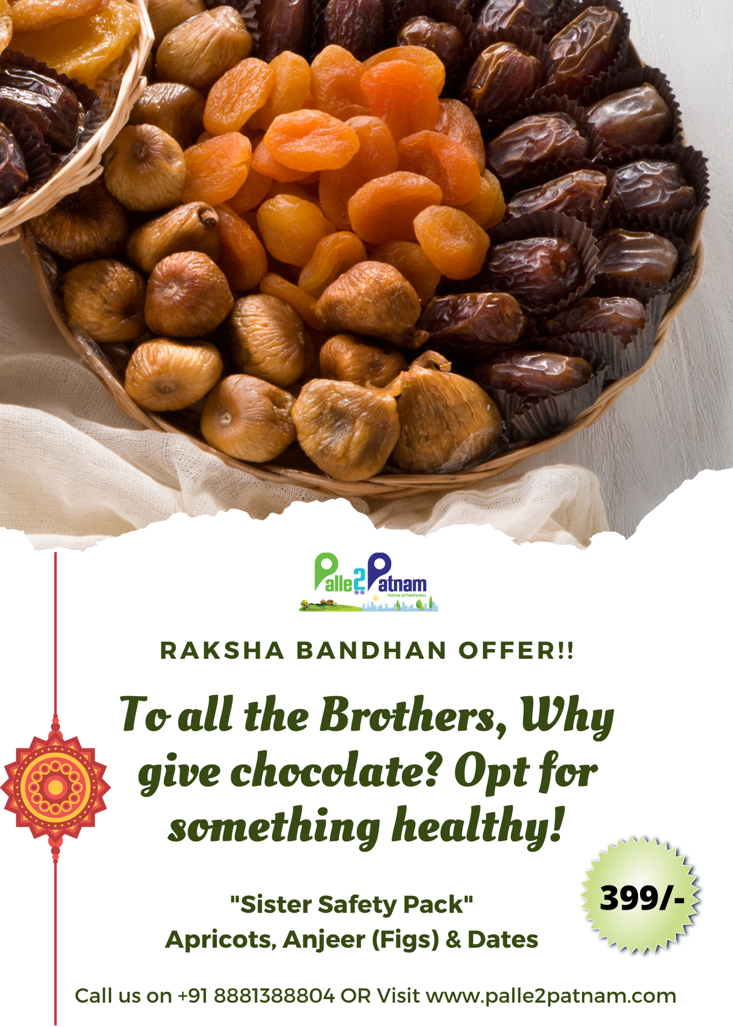 To all the Brothers, Why give chocolate? Opt for something healthy! During this pandemic give your sister healthy gift.