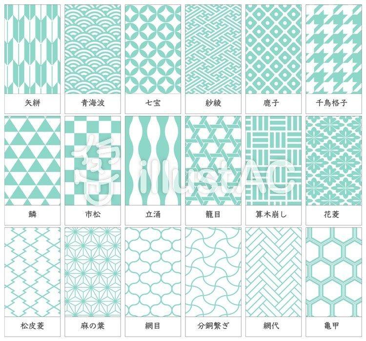 和柄 家紋の種類と名前 日本 伝統 模様 テキスタイル デザイン